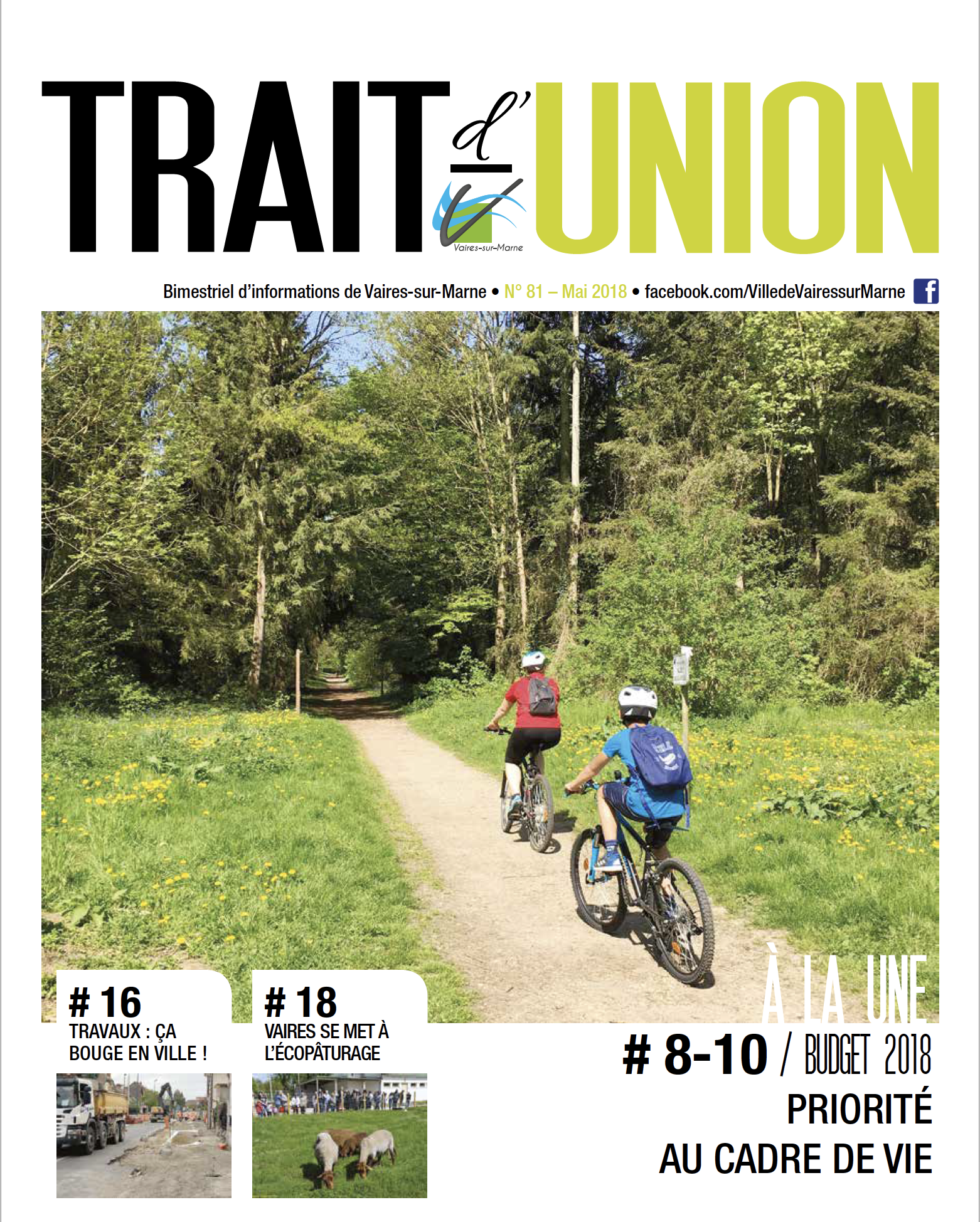 Trait d'Union N°81 - mai 2018