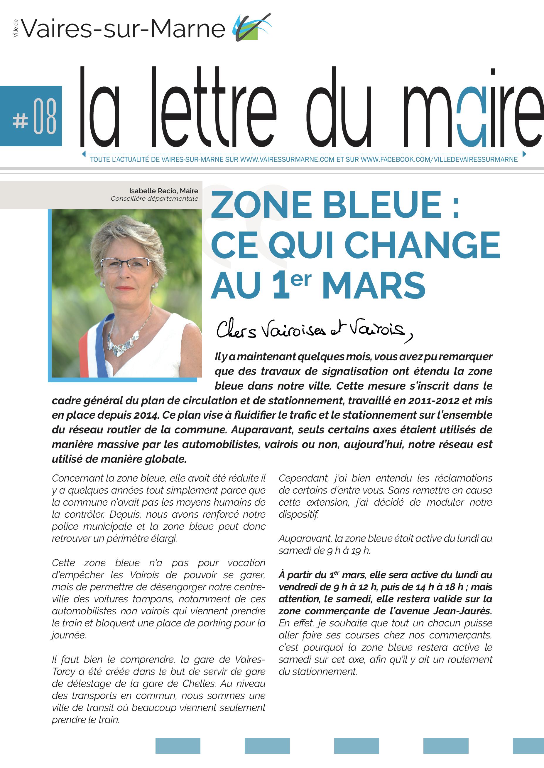 La Lettre du Maire #5 - Isabelle Recio, Maire
