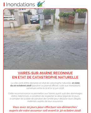 État de reconnaissance de catastrophe naturelle