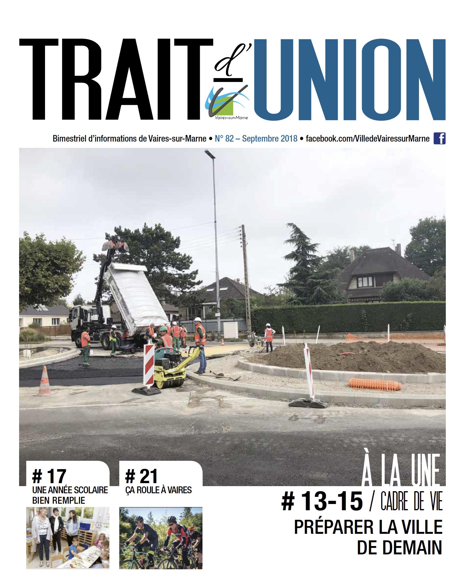 Trait d'union N°82 - septembre 2018