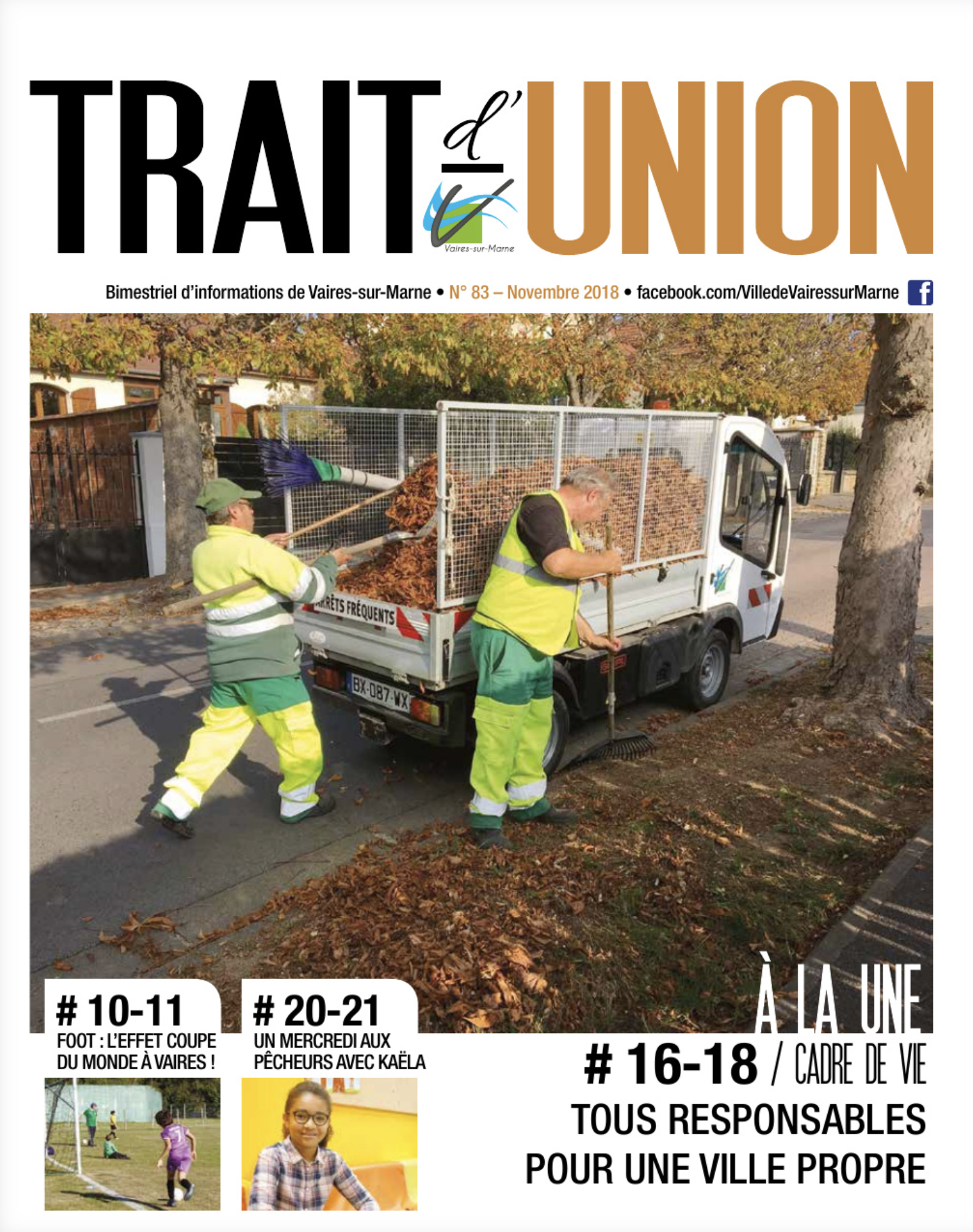 Trait d'Union N° 83 - novembre 2018
