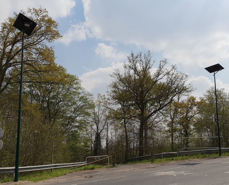 Des lampadaires solaires en ville