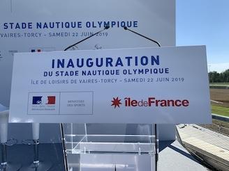22 juin 2019 - Paris 2024: Le stade nautique olympique inauguré!