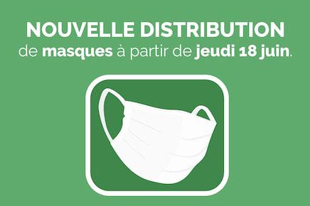 Nouvelle distribution de masque à partir de jeudi