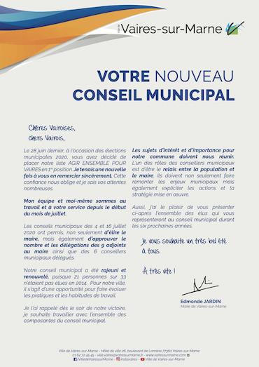 Votre Conseil municipal - juillet 2020