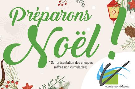 Les chéquiers de Noël bientôt dans votre boîte aux lettres!
