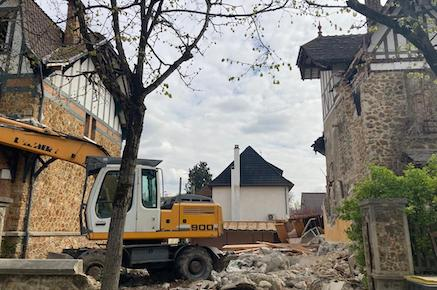 Boulevard de Lorraine: les deux pavillons démolis