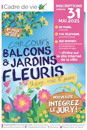 Concours balcons et jardins fleuris 2021: thème rose & jaune